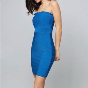 NWT Bebe bandage dress blue 2 ways to wear it Sz S